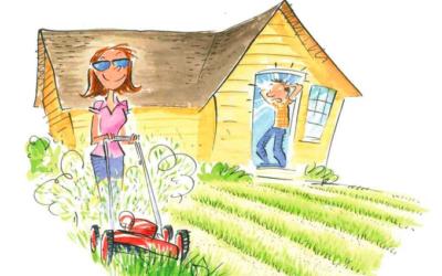Outta-wack Lawnmowing